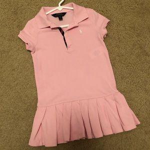 Girls pink Ralph Lauren polo dress